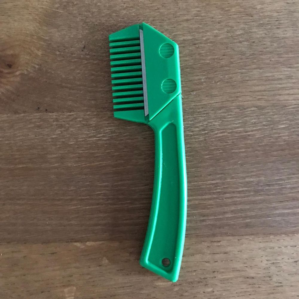 Mane Comb, 3-in-1, Green