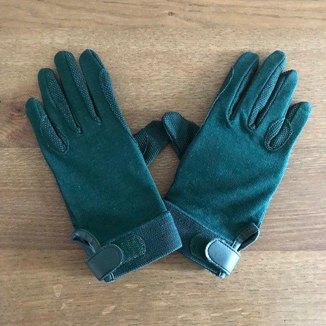 Cotton Riding Gloves, Green