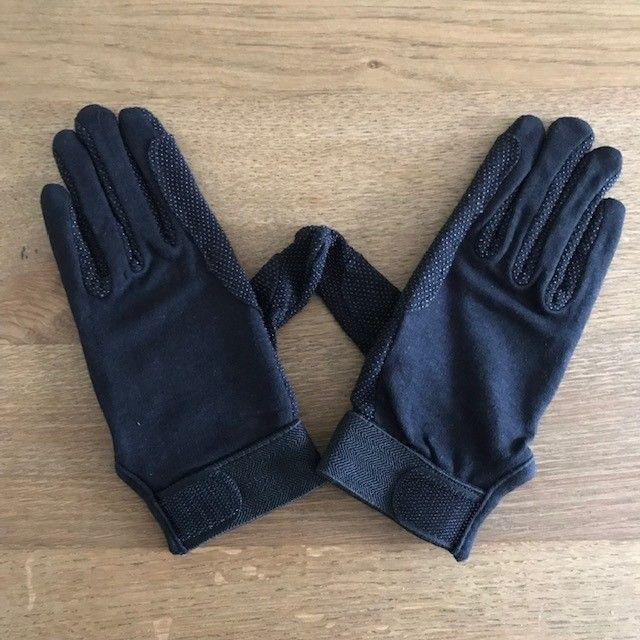 Cotton Riding Gloves, Black