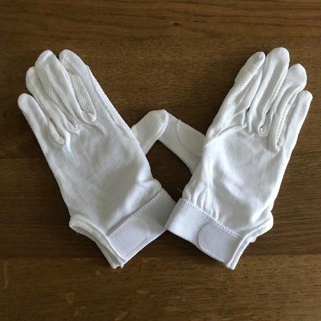 Cotton Riding Gloves, White