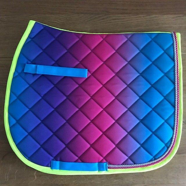 GP Saddle Pad, Aqua Rainbow