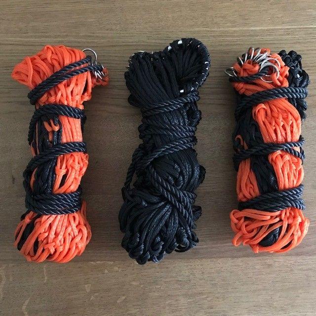 Haynets: pack of three (2 orange and black & 1 plain black)