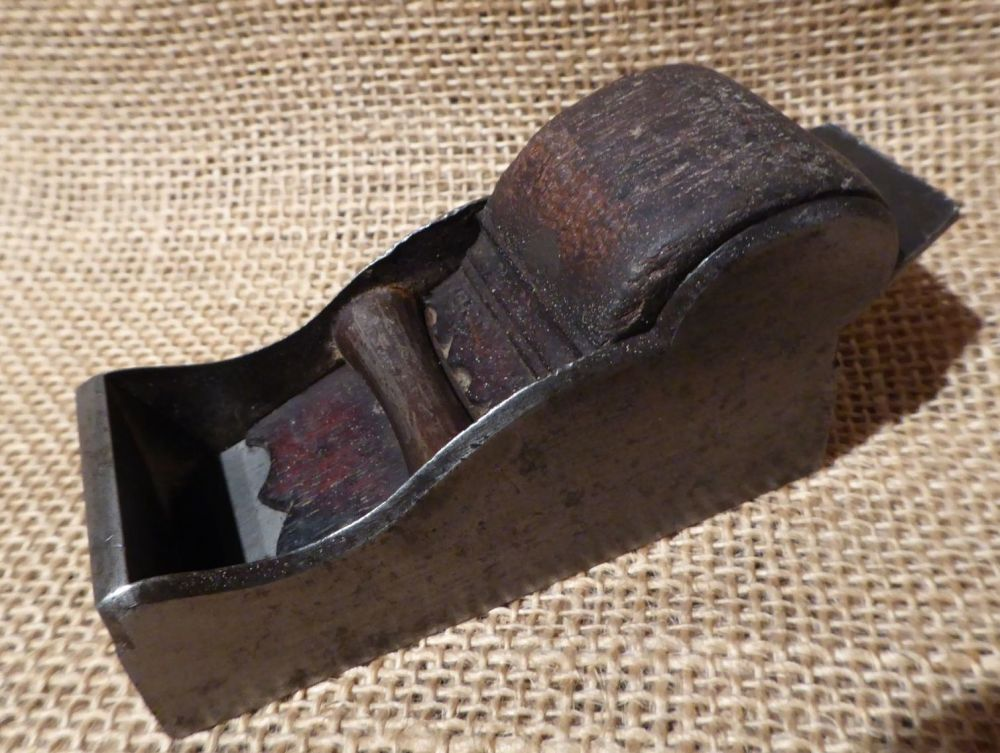 """3 3/8"""" Steel Chariot Plane With Moulson Brothers Iron"""