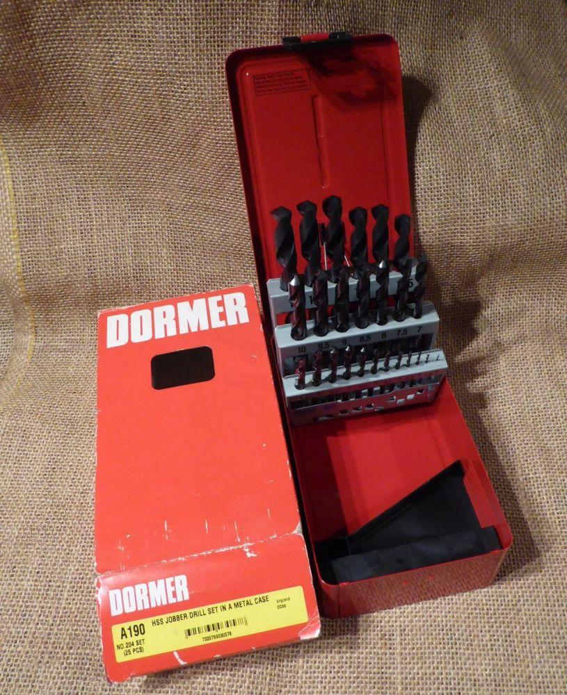 Dormer A190 No.204 HSS Jobber Drill Set In A Metal Case (25pcs)