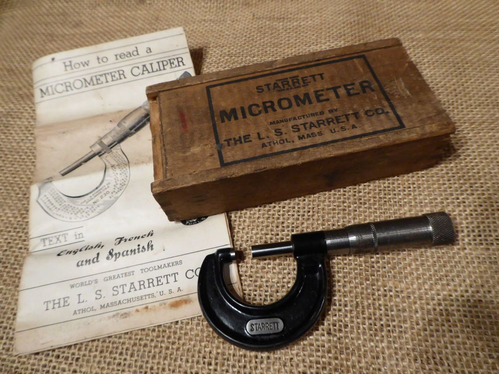 "L S Starrett Co. No.436 0-1"" Micrometer"