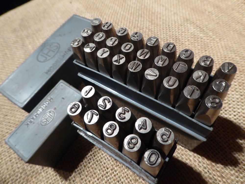 J H Shand - Modelmark Number & Letter Stamps - 3/16