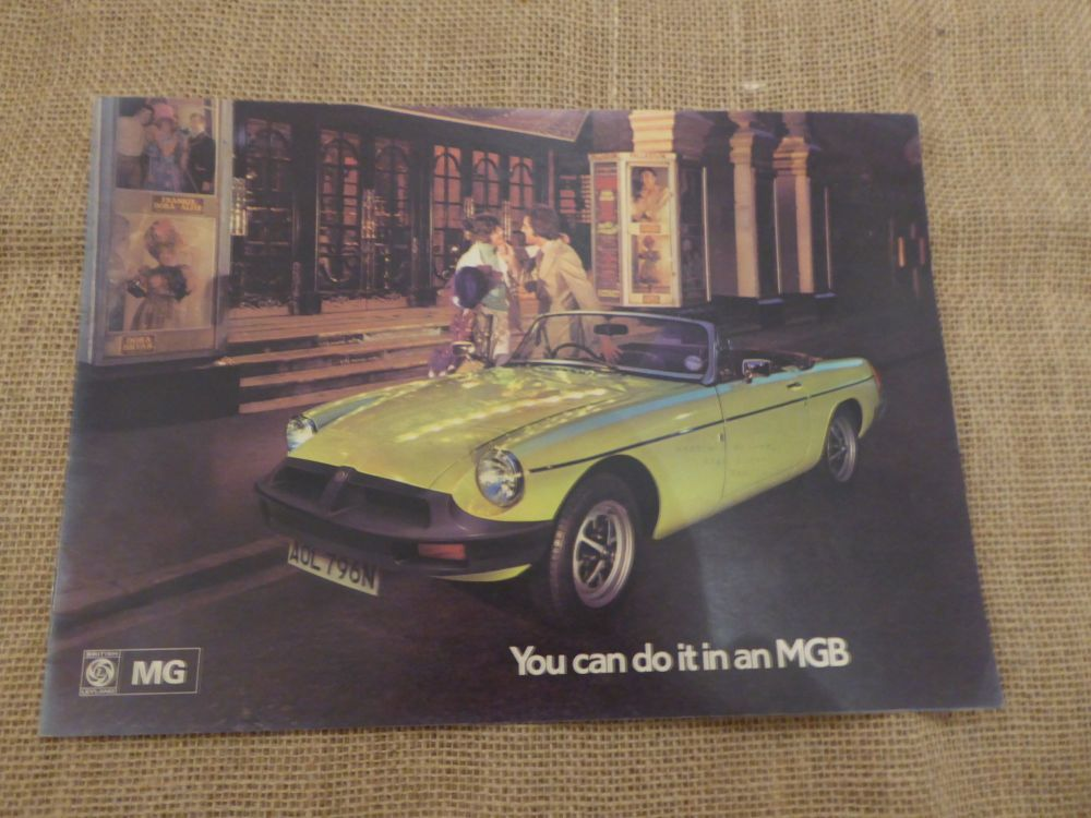 'You Can Do It In An MGB' Car Brochure - October 1974