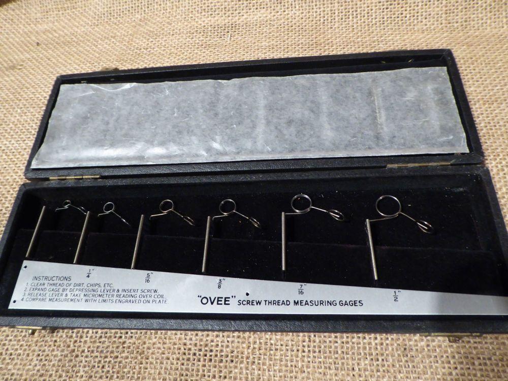 Ovee Screw Thread Measuring Gauges BSF