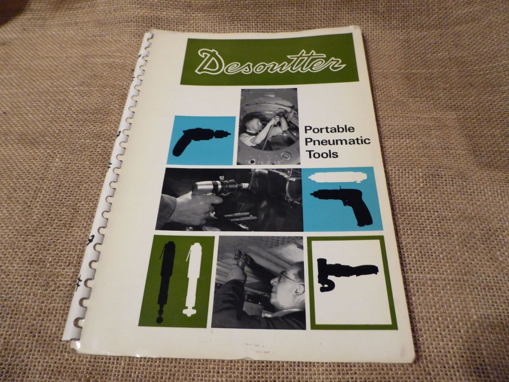 Desoutter Portable Pneumatic Tools Catalogue - April 1970