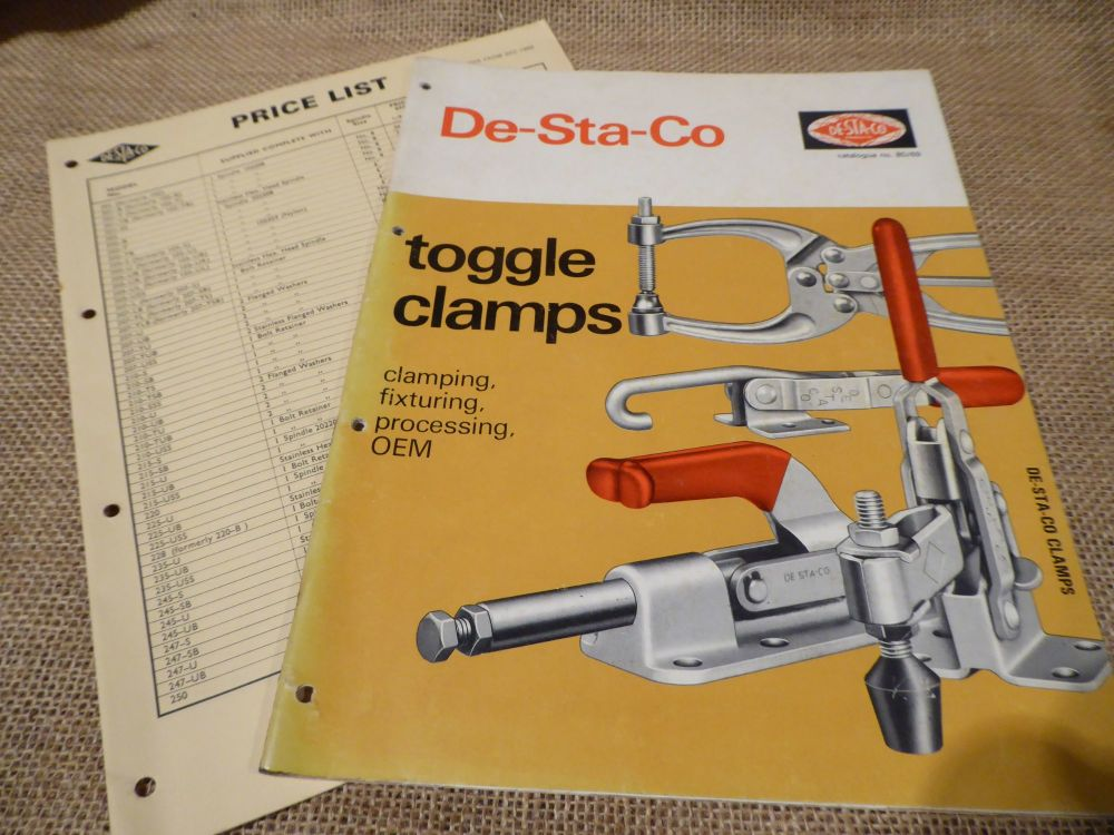 De-Sta-Co Toggle Clamps Catalogue No. 80/69 With Price List 1969