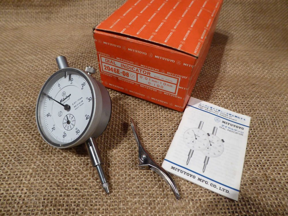 Mitutoyo 2046E-08 Dial Indicator 0.01mm - 10mm