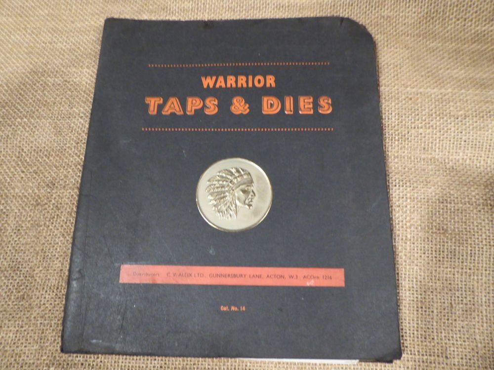 Warrior Taps & Dies Catalogue No.14 - 1950's
