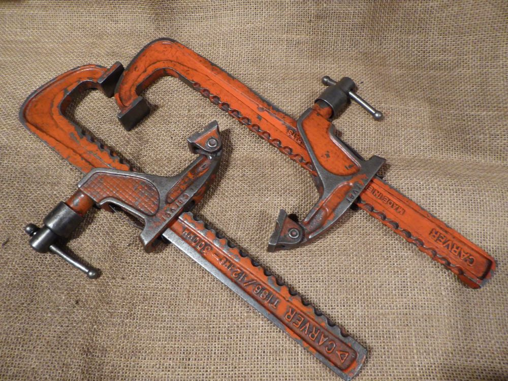 """Pair Of Carver T186 12"""" / 300mm Clamps"""