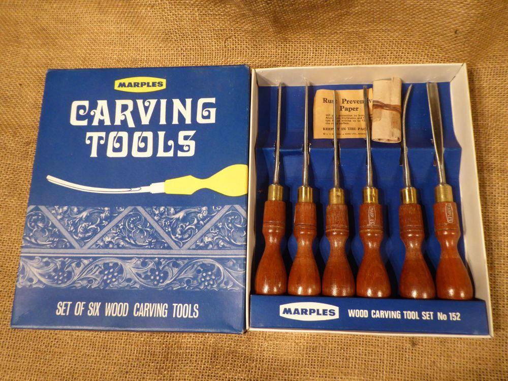Marples No. 152 Carving Tools - Set Of Six