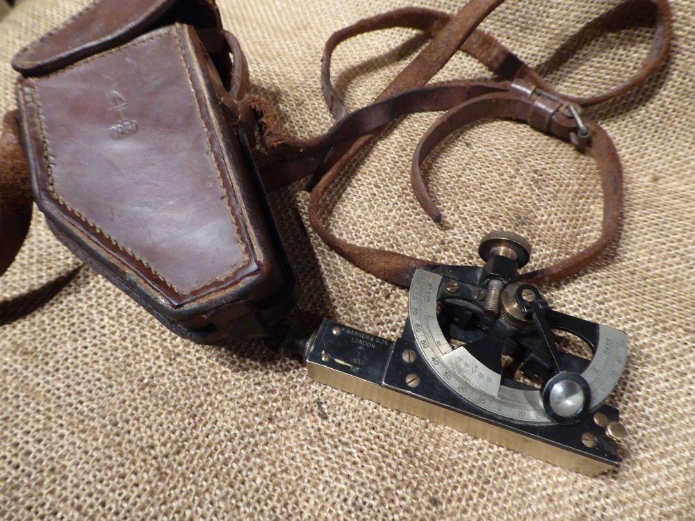 F Barker & Son (London) Abney Level Inclinometer - Broad Arrow Marked 1930