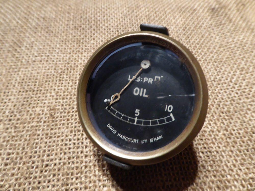 David Harcourt Ltd Oil Pressure Gauge Pat. No. 400740 & 400795