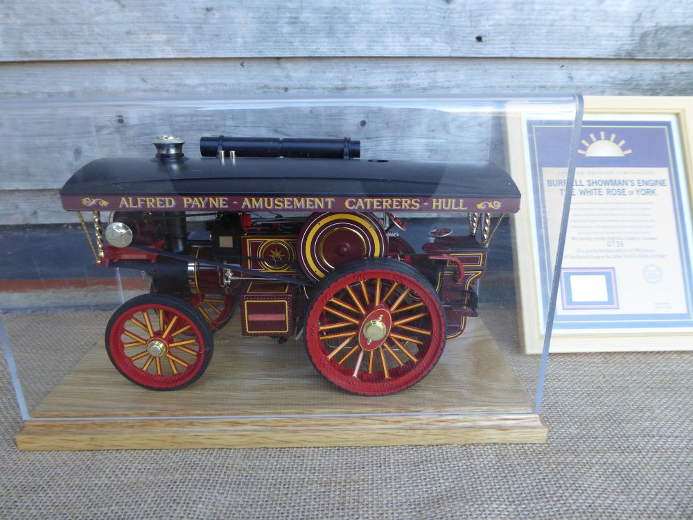 Midsummer Models Traction Engine, The White Rose Of York - Burrell Showman'