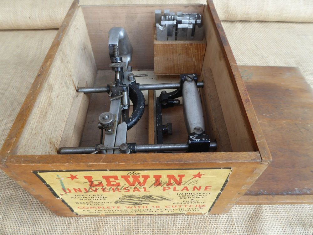 The Lewin Universal Plane - With 18 Cutters - Multi Purpose Plane