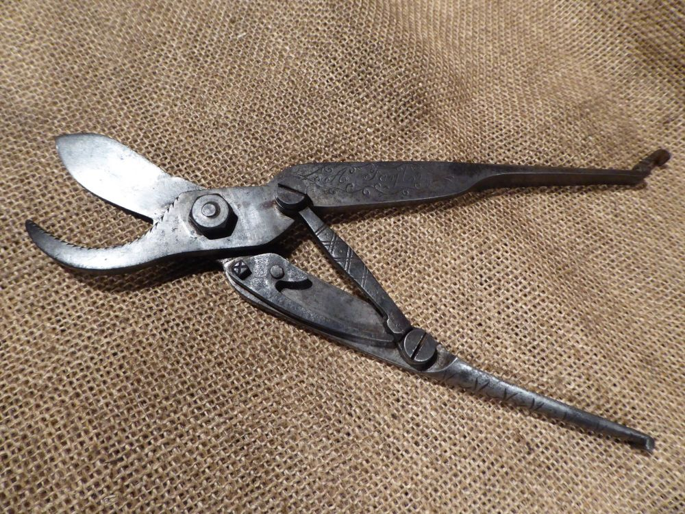 Unusual Vintage Secateurs - Decorated & Marked A Taylor