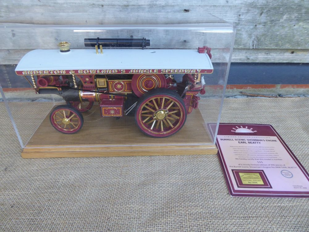 Midsummer Models Traction Engine: Earl Beatty No.3896 - Burrell Scenic Show