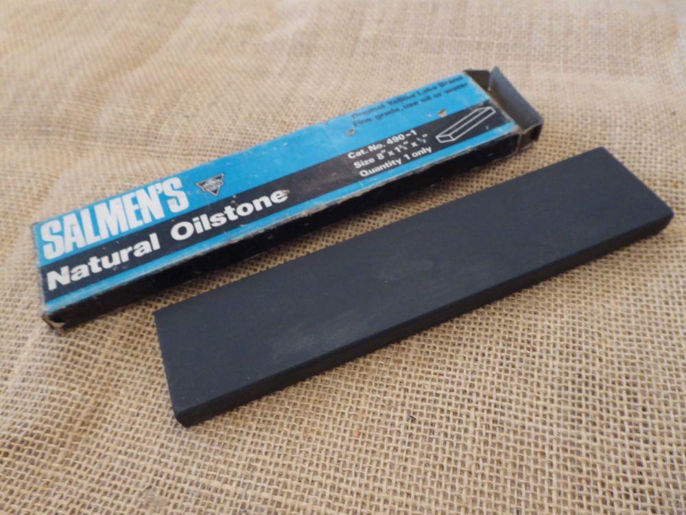 "Salmen's Natural Oilstone 8"" x 1 3/4"" x 1/2"""