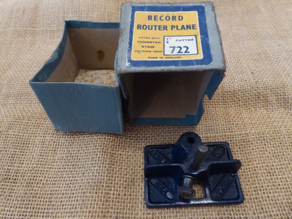 Record 722 Router Plane - Made In England