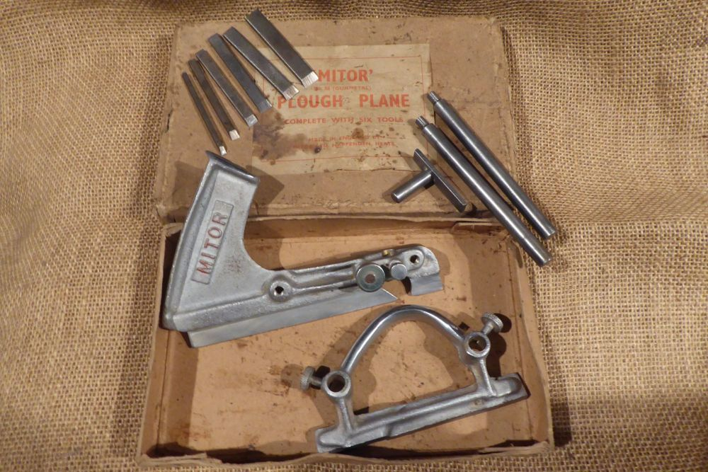 Mitor No.88 (Gunmetal) Plough Plane With Cutters - Original Box