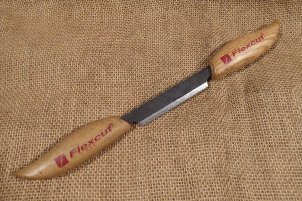 """Flexcut KN25 Straight Drawknife - 3"""" / 75mm Cutting Edge"""