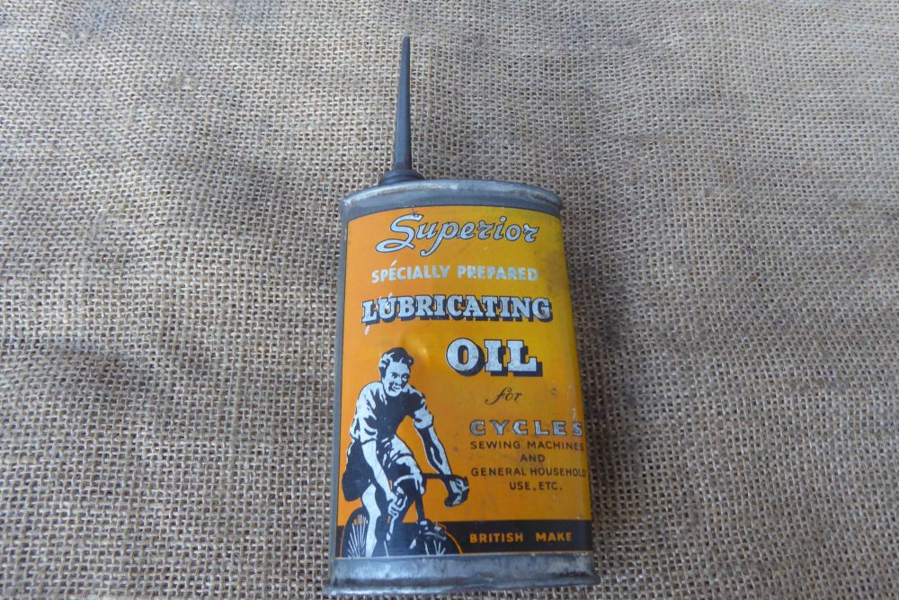 Superior Lubricating Oil For Cycles Oil Can - Display Can - Empty