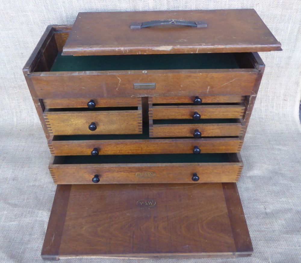Moore & Wright Tool Cabinet - Top Compartment - With Front Panel But NO Key