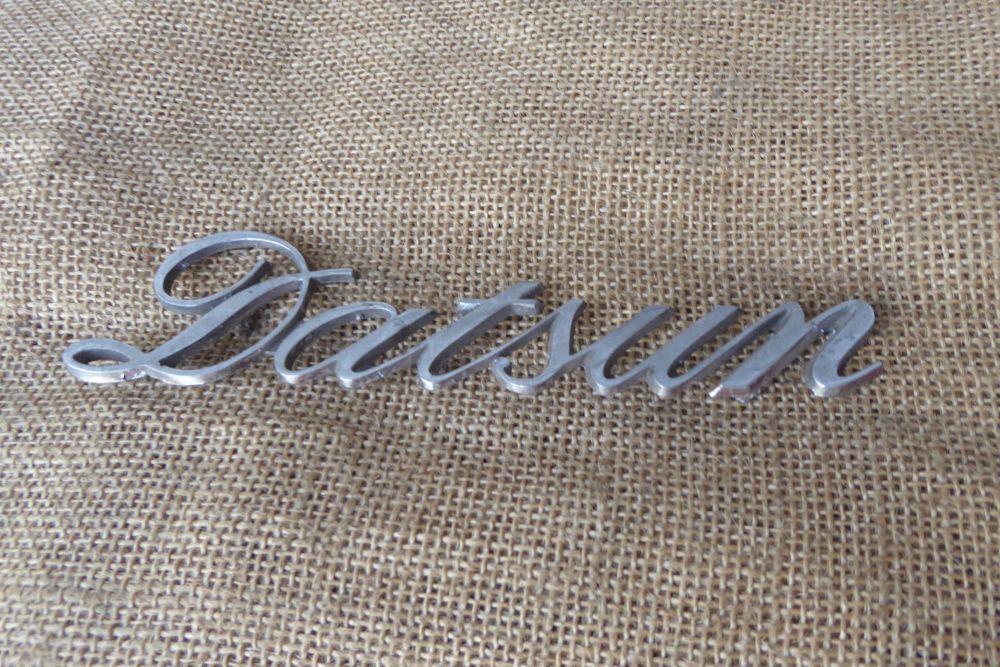 Datsun Car Badge / Emblem - Script - Datsun