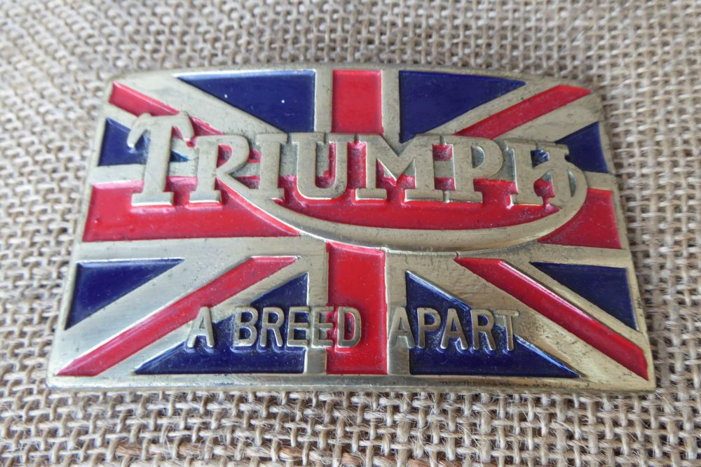 Triumph - A Breed Apart - Vintage Belt Buckle - Tanside Ltd
