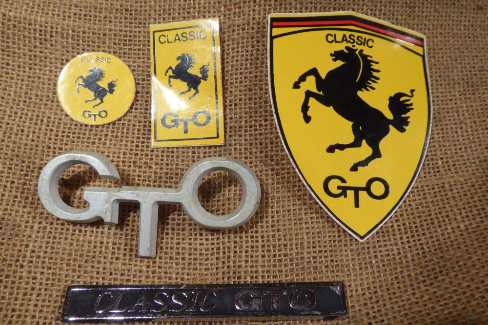Ferrari Classic GTO Car Badges - Rare GTO Emblem