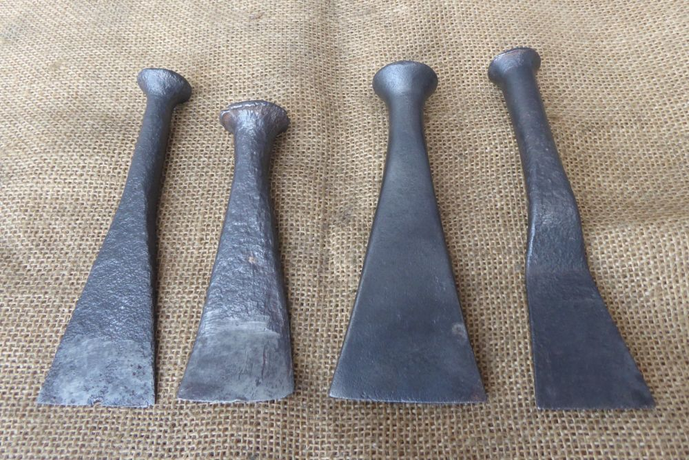 4 x Vintage Caulking Irons - Shipwright's Tools