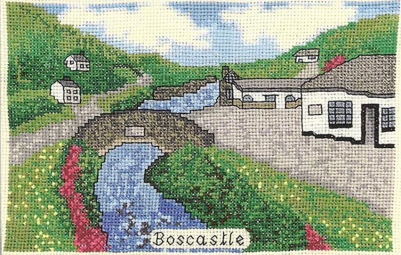 Boscastle West Country Scene Cross Stitch