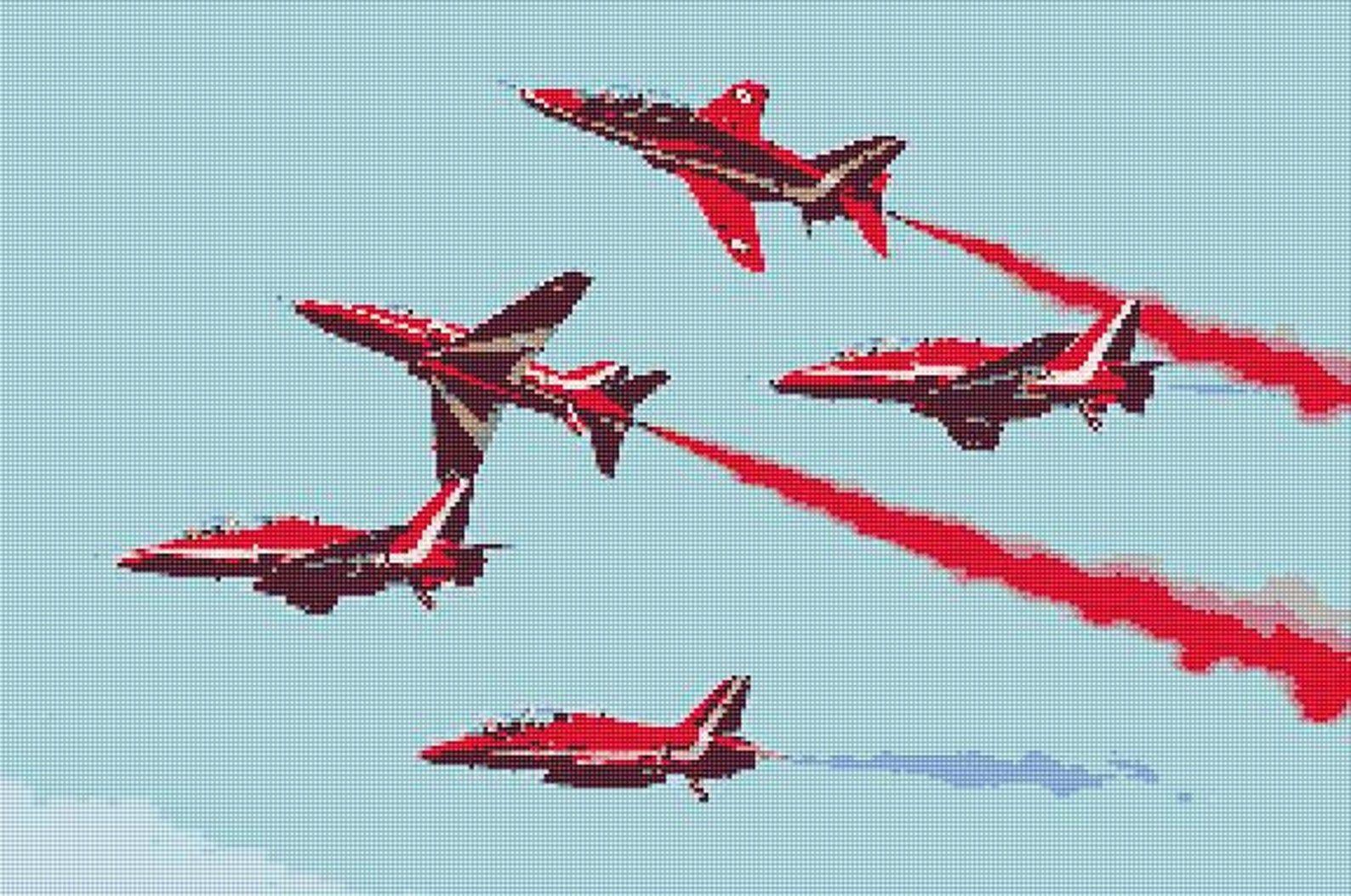 Red Arrows Cross Stitch Design