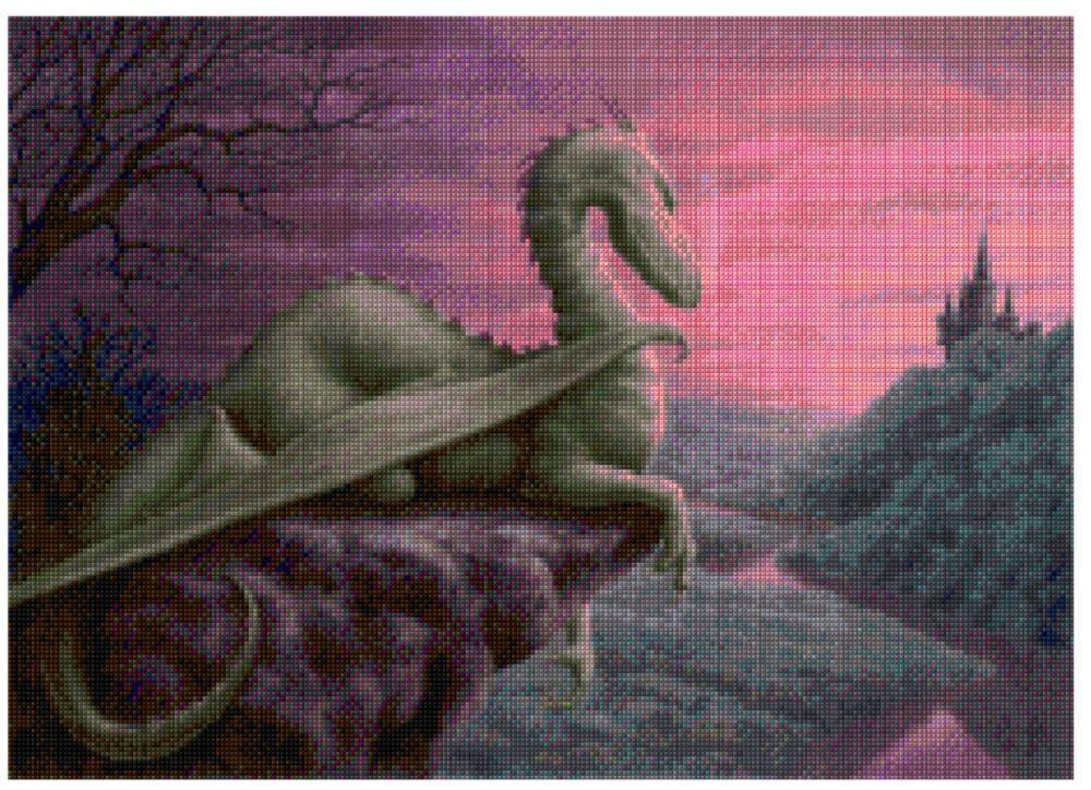 Dragon at dusk