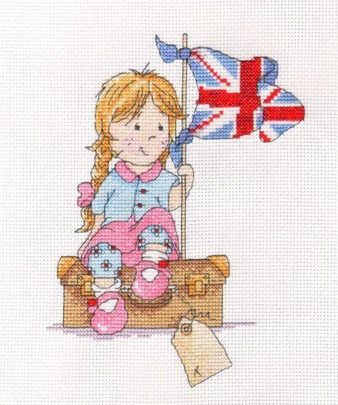 Elizabeth ready for her seaside holiday