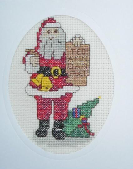 Christmas card - Father Christmas with list
