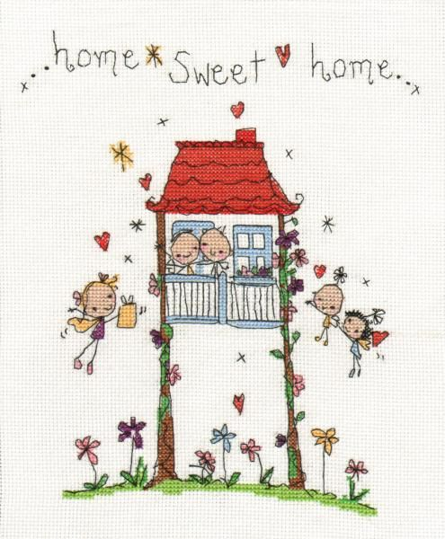 """Juicy Lucy """"Home Sweet Home"""" Cross Stitch Kit"""