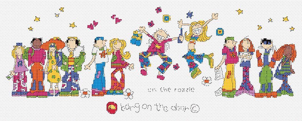On the razzle cross stitch