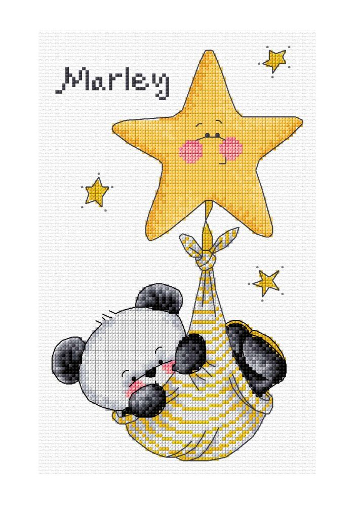 Party Paws - swinging on a star - unisex cross stitch