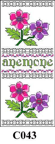 Anemone picture cross stitch kit CO43
