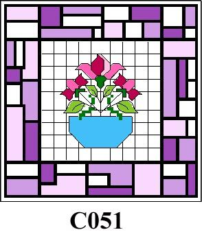 Bowl of flowers tile picture cross stitch kit CO51