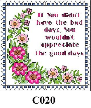 """Floral picture """"If you didn't ..."""" cross stitch kit CO20"""