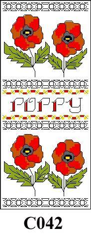 Poppy picture cross stitch kit CO42
