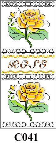 Rose picture cross stitch kit CO41