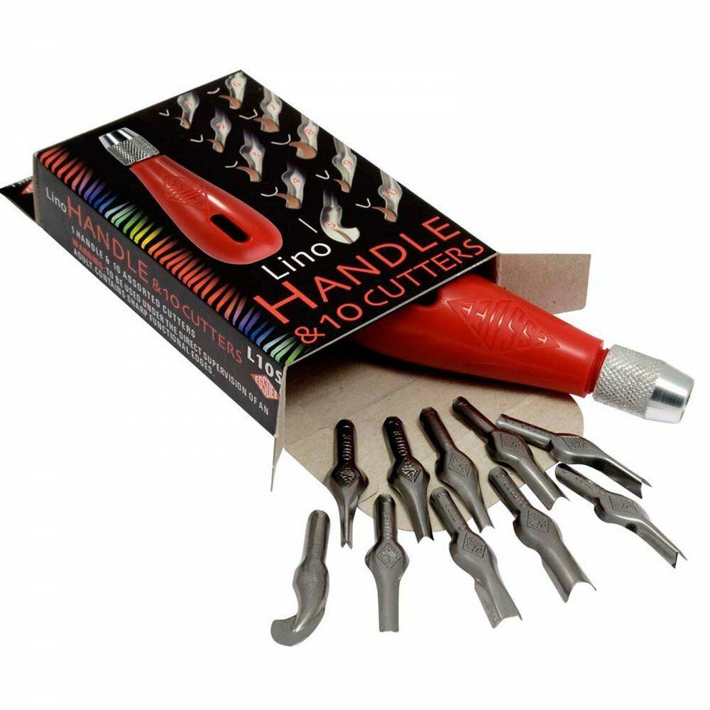 Essdee Lino Cutter Set Handle & 10 Cutters