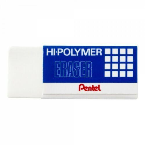 Pentel Hi-Polymer High Quality Large or Small Plastic Eraser / Rubber ZEH-1