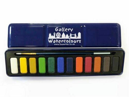 Watercolour Paint Set 12 x colours with brush